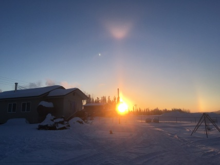 """Sun Dogs"" barking around the sun."